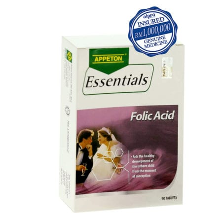 Appeton Essentials Folic Acid 400mcg (90s) Exp Date 02/2022