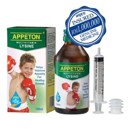 Appeton Multivitamin Lysine Syrup (120ml)