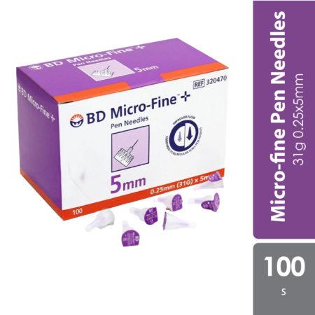 Bd Micro-fine Pen Needles 31g 0.25x5mm 100s