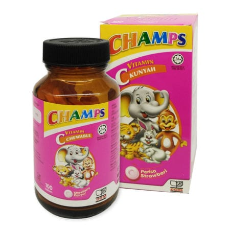 Champs Chewable Vitamin C 100mg - Strawberry (100s)