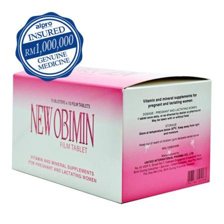 New Obimin Antenatal Supplement Film Tablet (100s) Exp Date: 04/2021