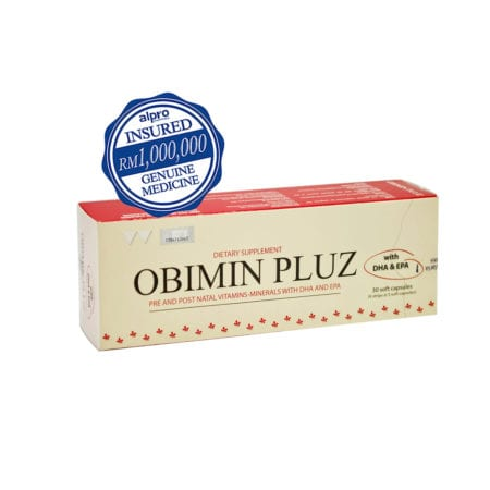 Obimin Pluz Antenatal Dietary Supplement With Dha & Epa (30's)