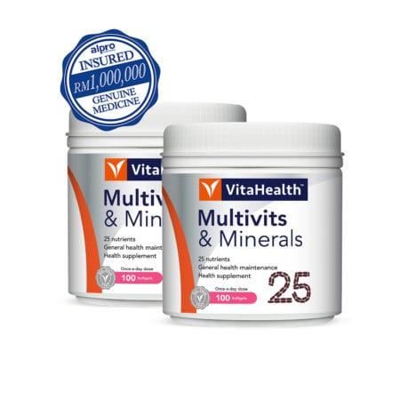 Vitahealth Multivits & Minerals 2x100s