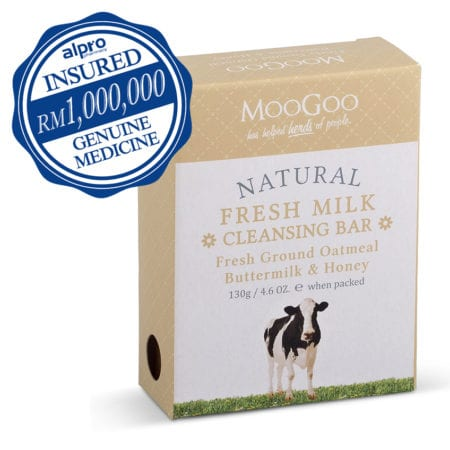 Moogoo Natural Fresh Milk Cleansing Bar (with Ground Oatmeal Buttermilk & Cocoa Butter) 130g (exp Date: 05/2022)