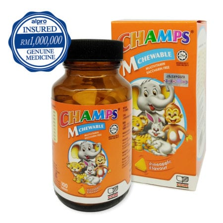 Champs Chewable M Lysine - Pineapple (100s) Exp Date 03/2021