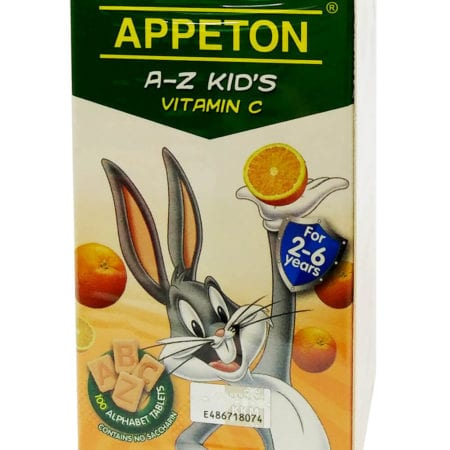 Appeton A-z Kids Vitamin C - Orange (100's) Exp. Date: 01/2022