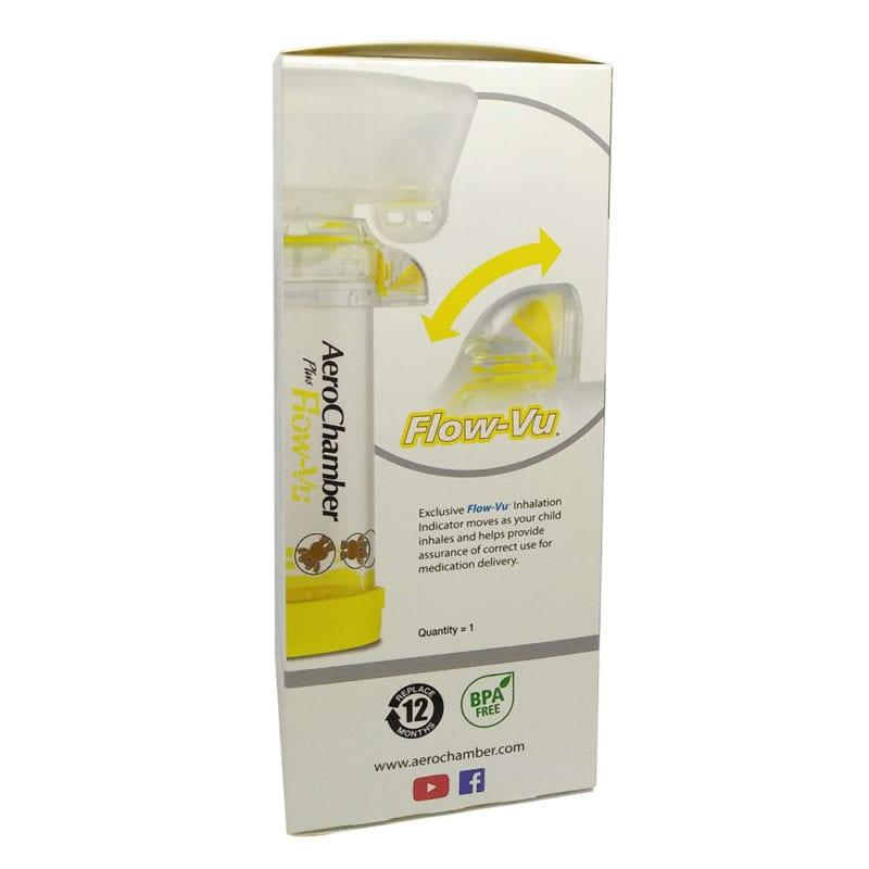 Aerochamber Children's Plus Flow Vu - Yellow