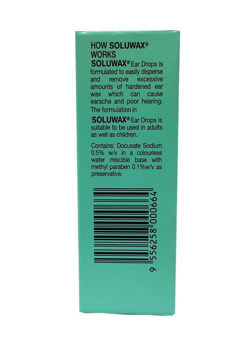 Soluwax Ear Drops 10ml