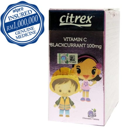 Citrex Vitamin C 100mg - Blackcurrant (30's) Exp Date 11/2020
