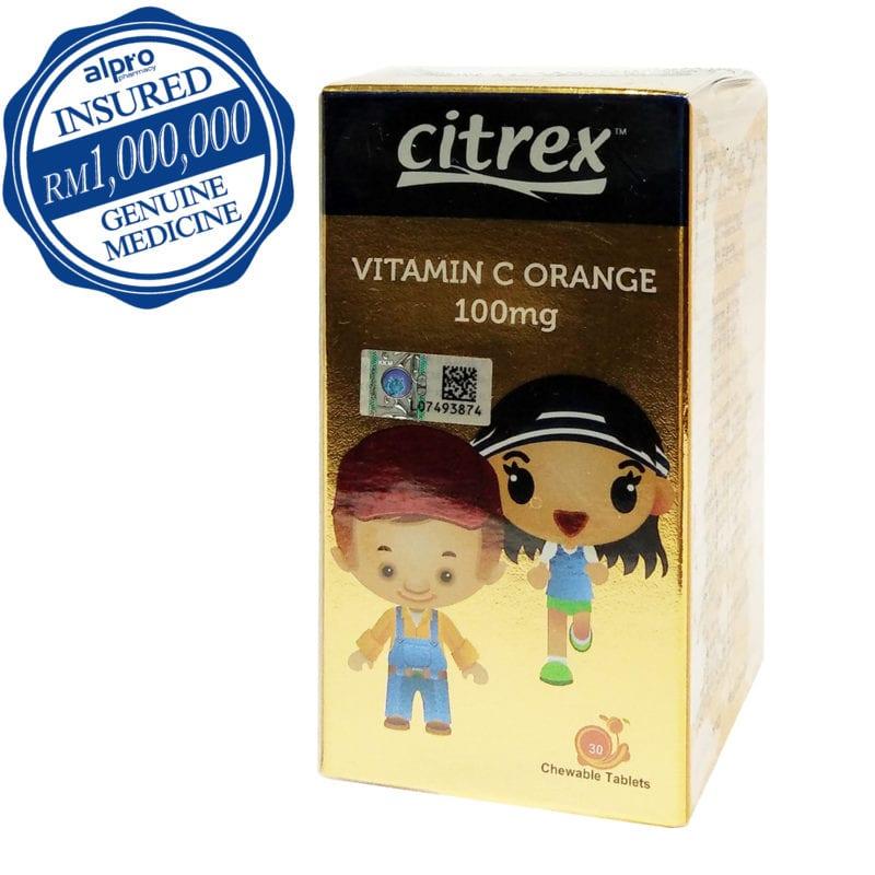 Citrex Vitamin C 100mg - Orange (30's)