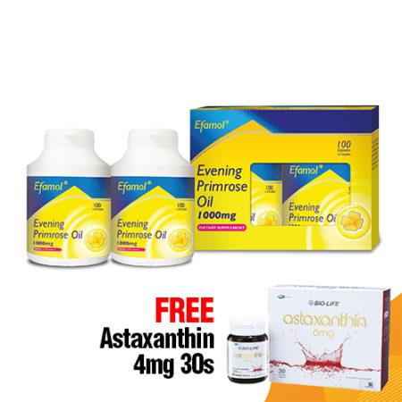 {Buy 1 set FREE 1 box Astaxanthin 4mg 30s} Efamol Epo (1000mg X 2 X 100s) Exp. Date : 10/2021