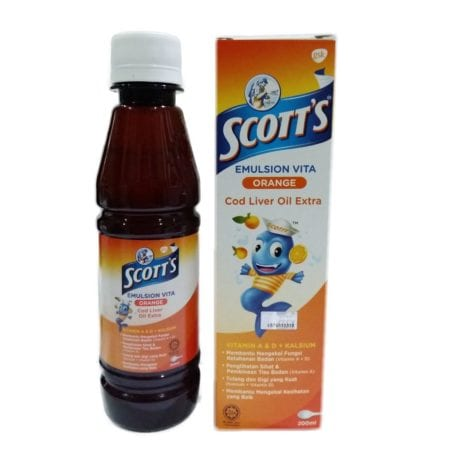 Scotts Emulsion Cod Liver Oil Extra Orange 200ml
