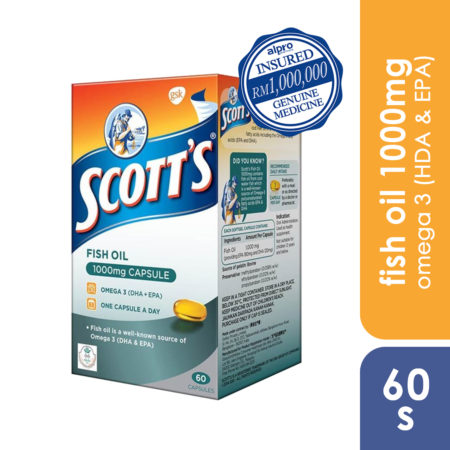 Scotts Fish Oil 1000mg 60s