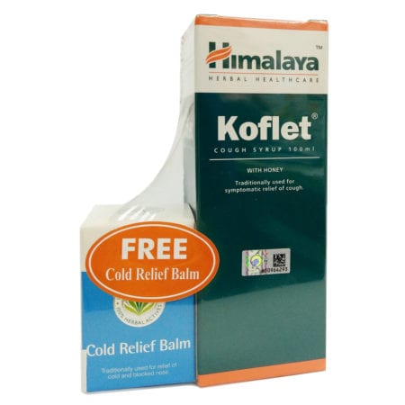 Himalaya Koflet Cough Syrup (100ml) + Cold Relief Balm