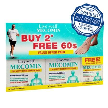 Live-well Mecomin 500mcg (2 X 90's)