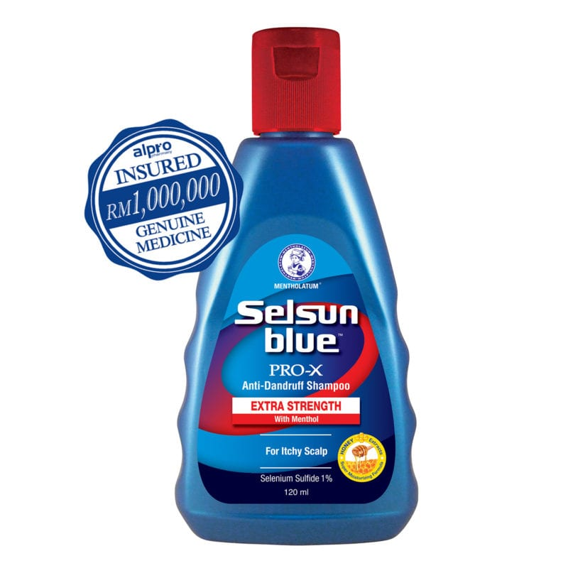Selsun Blue Pro-x Extra Strength Shampoo For Itchy Scalp (120ml)