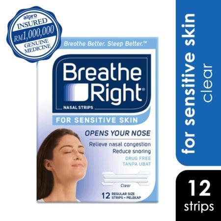 Breathe Right Nasal Strips - Sensitive Skin (12s)