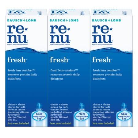 Bausch + Lomb Renu Fresh Multipurpose Solution (355ml X 3)