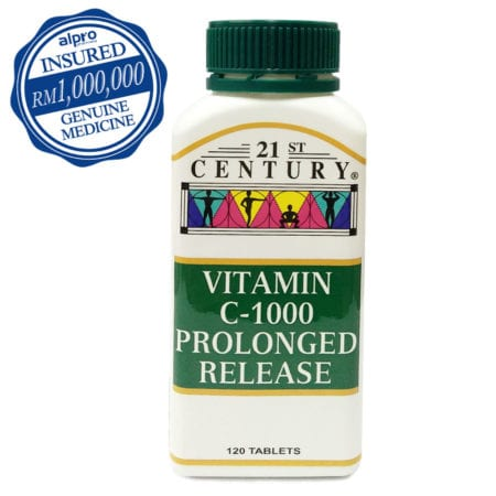 21st Century Vitamin C Prolonged Release (1000mg X 120s) Exp. Date: 03/2021