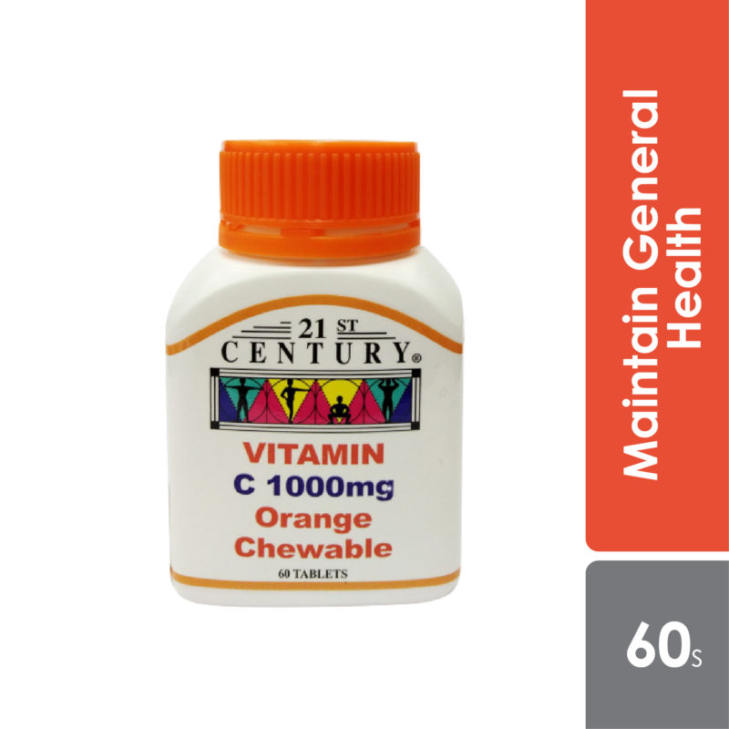 21st Century Vit.c Chewable 1000mg 60s