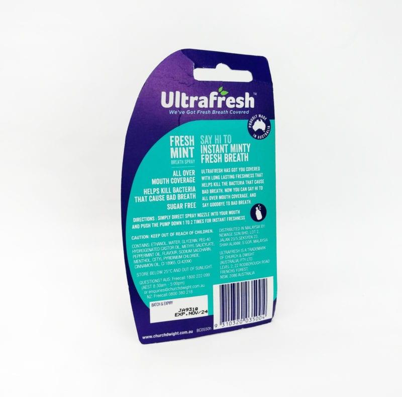 Ultrafresh Fresh Mint Breath Spray 12ml