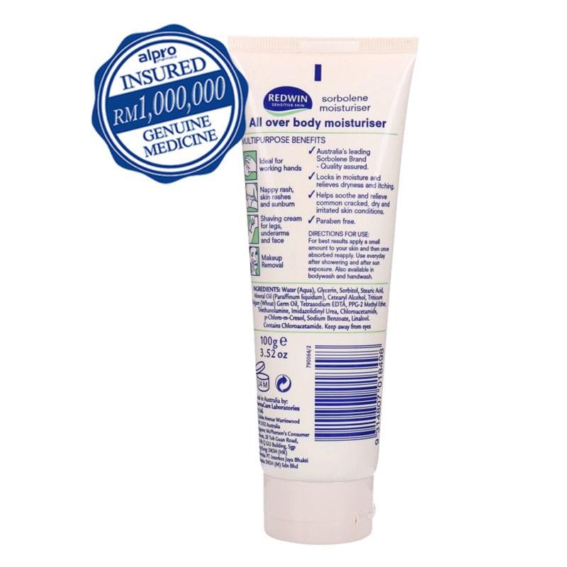 Redwin Sorbolene Moisturiser Cream With Vitamin E 100g