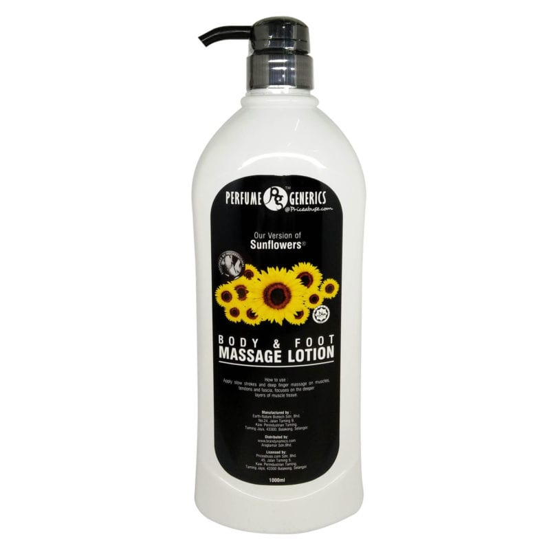 Pg Sunflower Body &foot Massage Lotion 1000ml