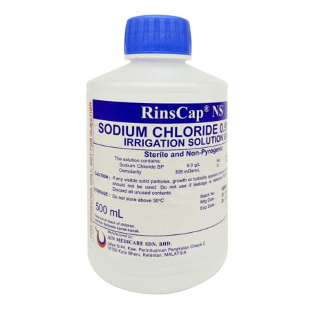 Rinscap Normal Saline Sodium Chloride Irrigation Solution (500ml)