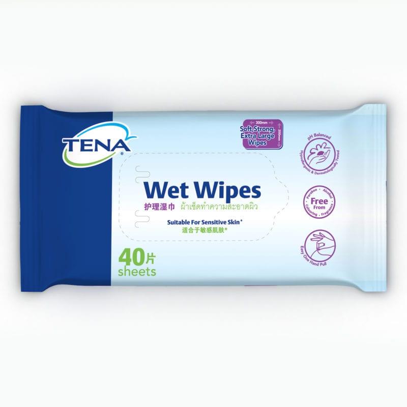 Tena Wet Wipes 40s
