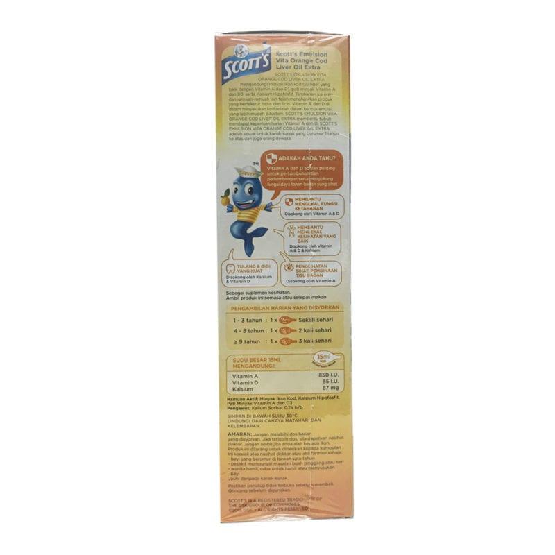 Scotts Emulsion Cod Liver Oil Extra Orange 400ml 2s