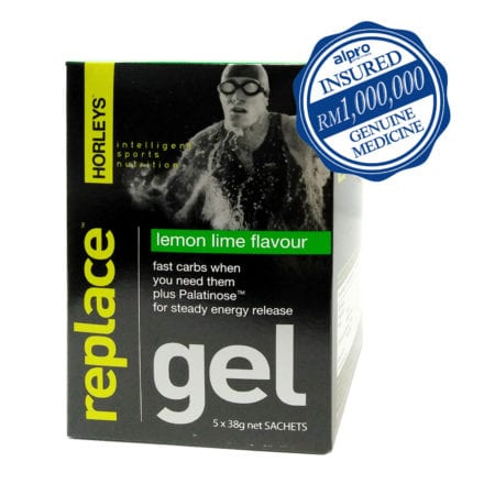 Horleys Replace Gel - Lemon Lime (38g X 5) Exp. Date 06/2020