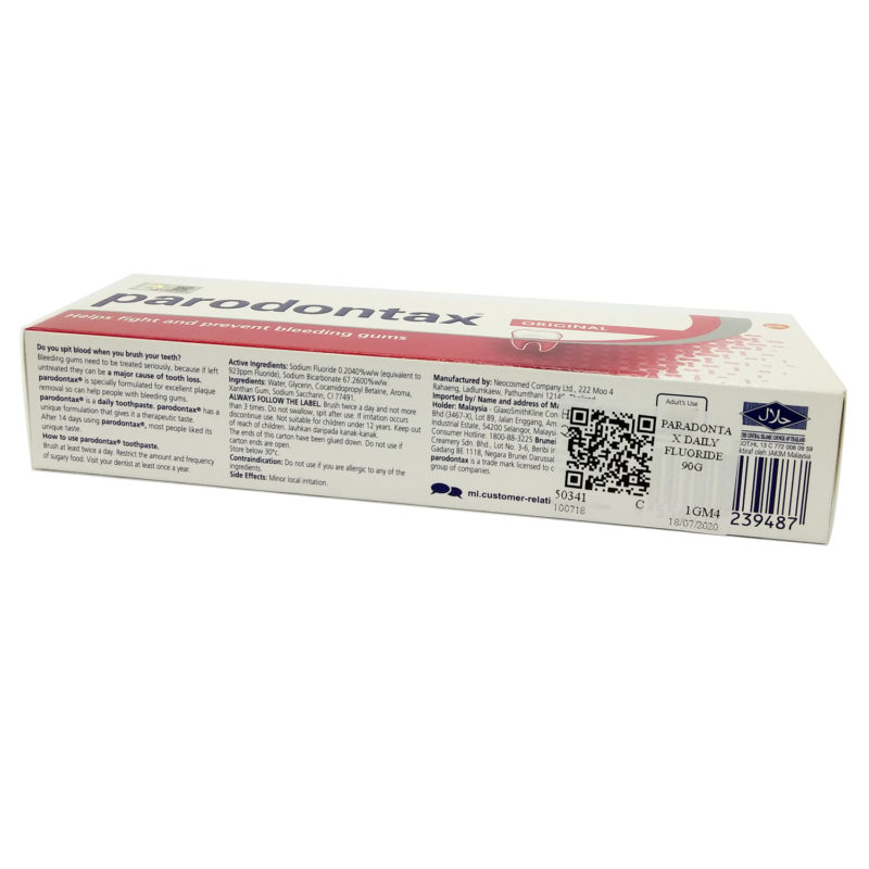 Paradontax Fluoride Toothpaste Original 90g