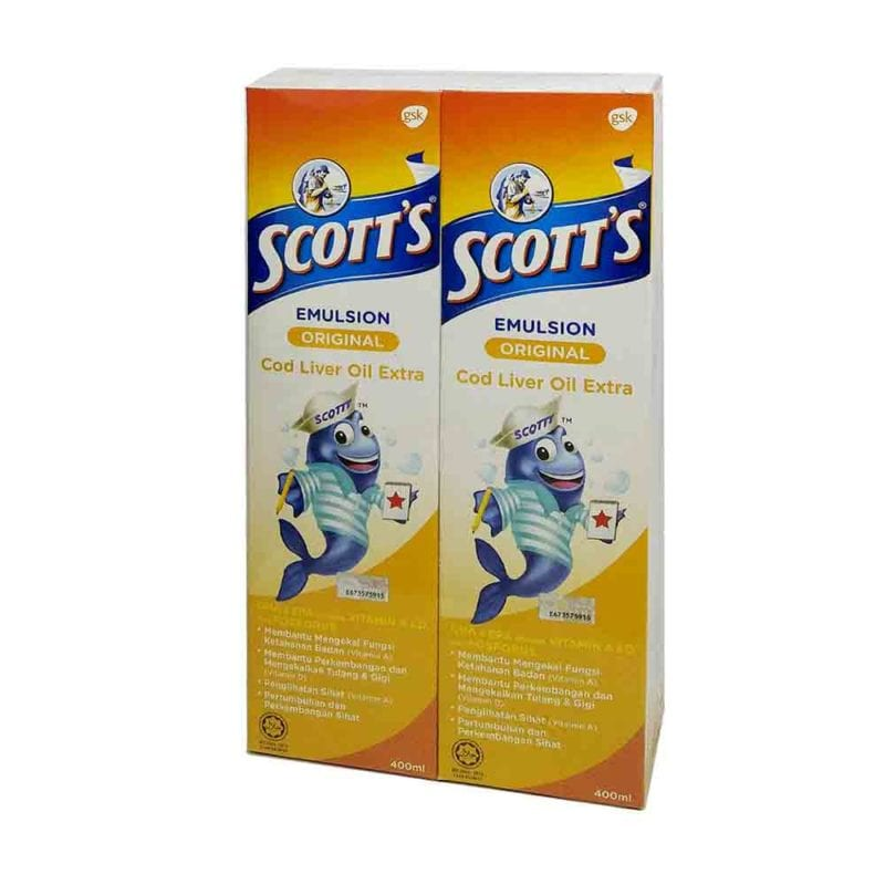 Scotts Emulsion Cod Liver Oil Extra Original 400ml 2s