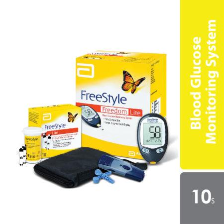 Abbott Freestyle Freedom Lite Glucose Meter With 10 Strips