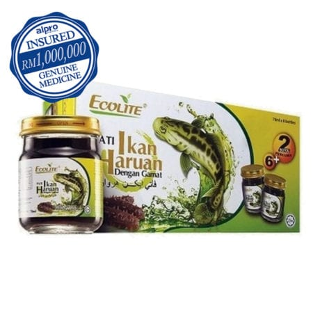 Ecolite Pati Ikan Haruan & Gamat (70ml X 6 Bottles) [free 2 Bottles] Exp. Date: 08/2022