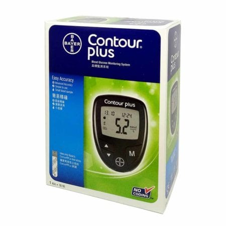 Bayer Contour Plus Blood Glucose Monitoring Start Pack With Free 25s Test Strips
