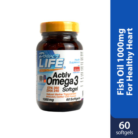 Powerlife Activ Omega3 is fish oil that good for your heart, reduce cholesterol.