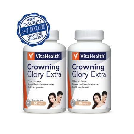Vitahealth Crowning Glory Extra For Healthy Hair 2x90s