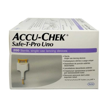 Accu-chek Safe T Pro Uno Lancing Device (200s)