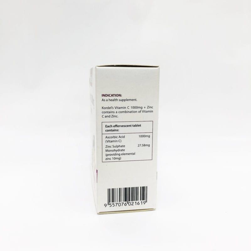 Kordels Vitamin C 1000mg + Zinc Effervescent Passion Fruit 3x10s