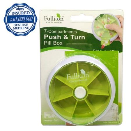 Fullicon Pill Box - Push & Turn