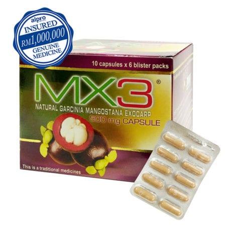 Mx3 Natural Garcinia Mangostana (antioxidant) 500mg 60s -exp. Date: 08/2021
