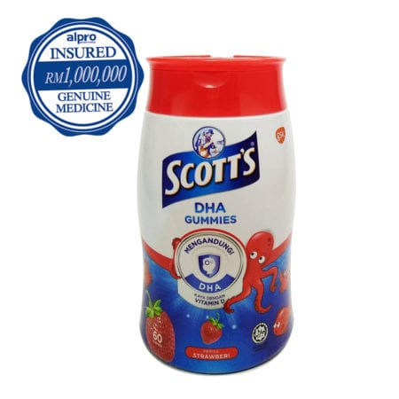 Scott's Dha Gummies - Strawberry 60s (exp. Date: 09/2020)
