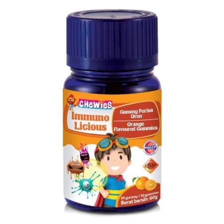 Chewies Kids Immuno Licious Multivitamin Orange 60s