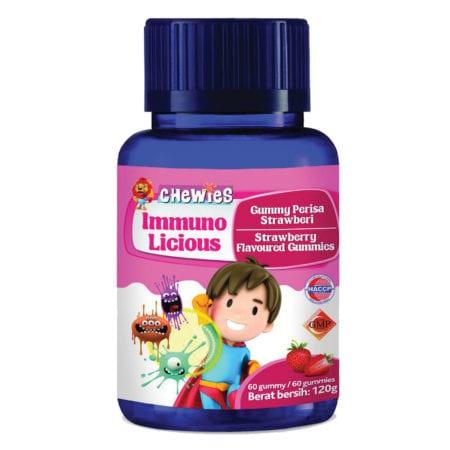 Chewies Kids Immuno Licious Multivitamin Strawberry 60s