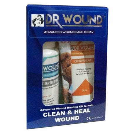 Dr Wound Advanced Wound Healing Kit -silvosept (50ml) + Chitoheal Gel (20ml)