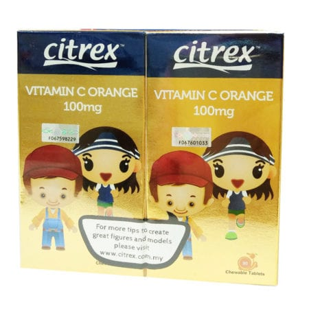 Citrex Vitamin C - Orange (100mg X 90s X 2)