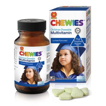 Chewies Kids Multivitamin With Taurine Lychee Flavor 60s