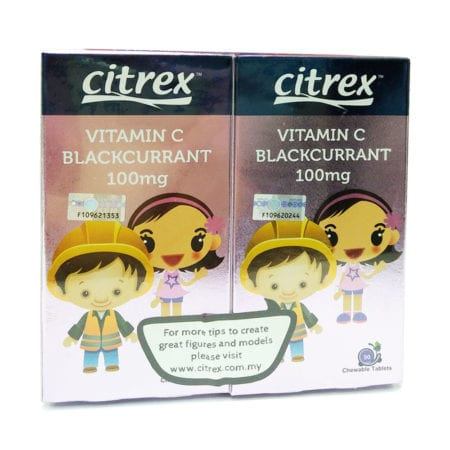 Citrex Vitamin C - Blackcurrant (100mg X 90s X 2)