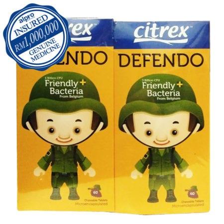 Citrex Defendo Chewable - Grape (60s X 2) Exp. Date: 11/2020